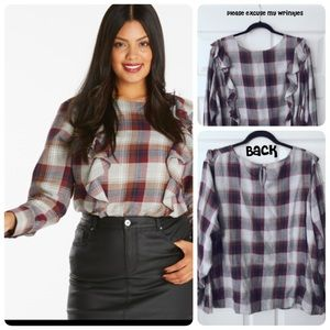 Simply Be Frill Front Blouse